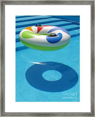 Ring In A Swimming Pool Framed Print