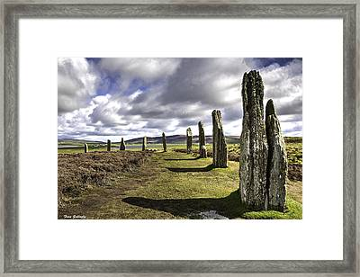 Ring Of Brodgar Framed Print