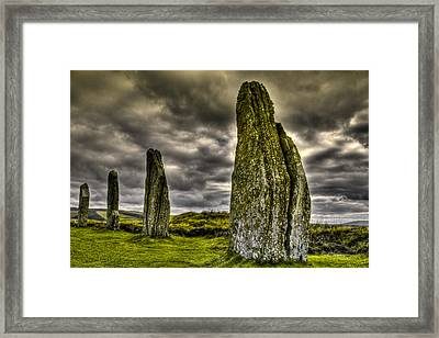 Ring Of Brodgar Orkney Framed Print by Gabor Pozsgai