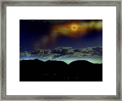 Ring Of Fire Framed Print by Chad Rice