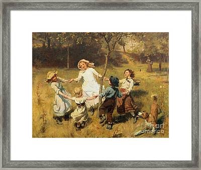 Ring Of Roses Framed Print by Frederick Morgan