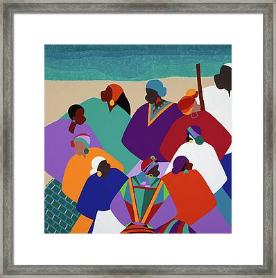 Ring Shout Gullah Islands Framed Print