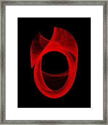 Framed Print featuring the digital art Ring Unraveling II by Robert Krawczyk