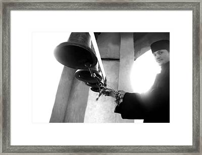Ringing The Bells At The Monastery Framed Print