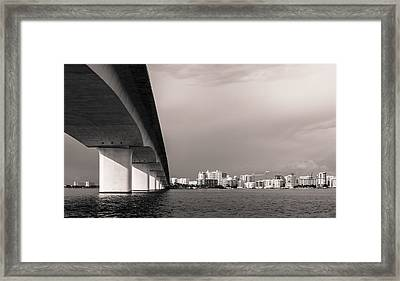 Ringling Bridge Framed Print by Clay Townsend