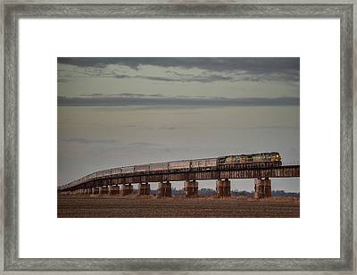 Ringling Bros And Barnum - Bailey Blue Circus Train At Rahm Indiana Framed Print by Jim Pearson