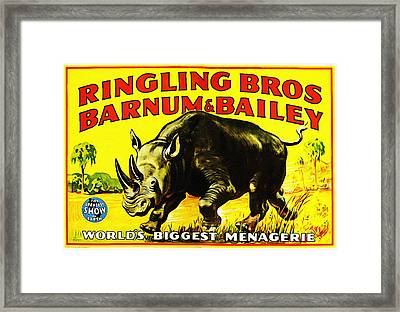 Ringling Brothers Barnum And Bailey Circus Framed Print by Bill Cannon