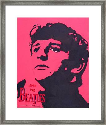 Ringo Framed Print by Eric Dee