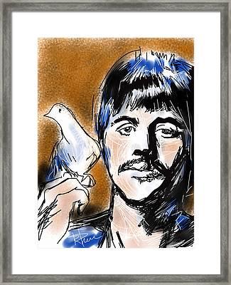 Ringo Framed Print by Russell Pierce