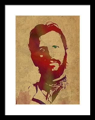 Ringo Starr Mixed Media Framed Prints