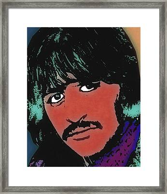 Ringo Starr-coloured Framed Print