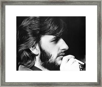 Ringo Starr In 1972 Framed Print by Chris Walter