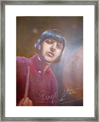 Ringo Starr Framed Print by Leland Castro