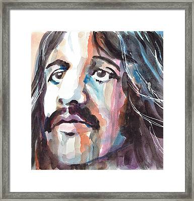 Ringo Starr Portrait 1 - By Diana Van Framed Print by Diana Van