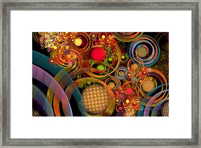 Rings Around The Bubbles Framed Print