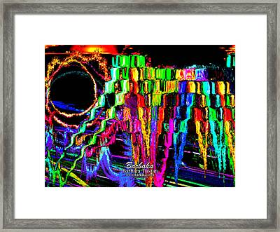Framed Print featuring the photograph Rings Of Fire by Barbara Tristan