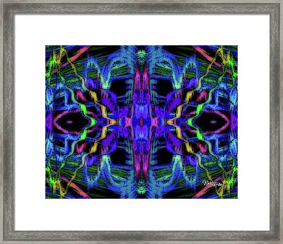 Rings Of Fire Dopamine #156 Framed Print by Barbara Tristan