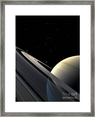 Rings Of Saturn Framed Print by Fahad Sulehria