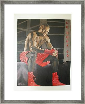 Ringside With Jermain Framed Print by Angelo Thomas