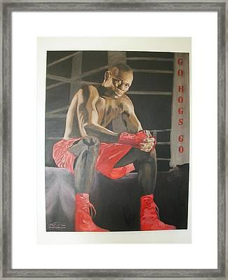 Ringside With Jermain Framed Print