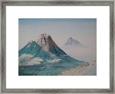 Rinjani Framed Print by David  Larcom