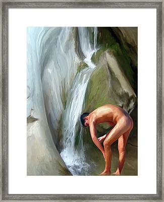 Rinsing Off Framed Print by Snake Jagger