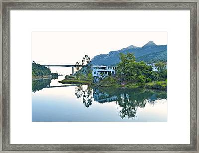 Rio Aguera Reflection  Framed Print by Marek Stepan
