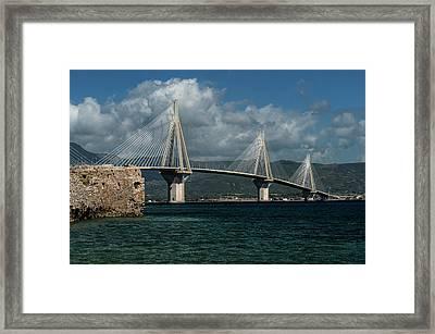 Rio-andirio Hanging Bridge Framed Print