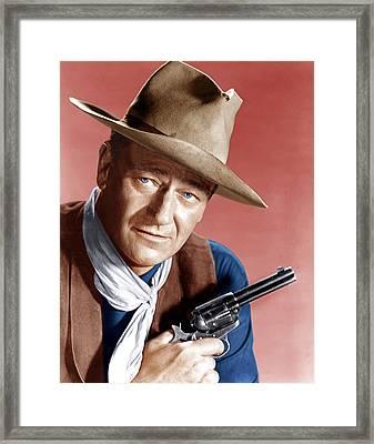 Rio Bravo, John Wayne, 1959 Framed Print by Everett