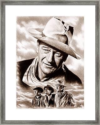 Rio Bravo Sepia Framed Print