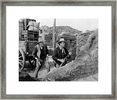 Rio Bravo, Walter Brennan, John Wayne Framed Print