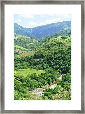 Rio De Caonillas, Villalba P.r. Framed Print