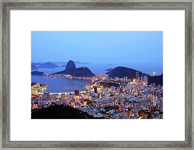 Rio De Janeiro, Beautiful City Framed Print