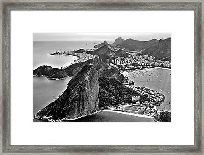 Rio De Janeiro - Sugar Loaf, Corcovado And Baia De Guanabara Framed Print