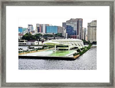 Rio De Janeiro Harbor Buildings Framed Print