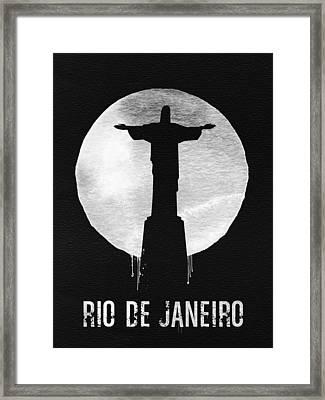 Rio De Janeiro Landmark Black Framed Print