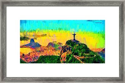 Rio De Janeiro Panoramic - Da Framed Print