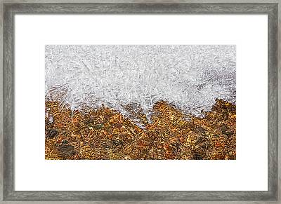 Rio Embudo Ice Framed Print by Britt Runyon