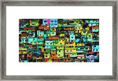 Rio Favela 3 - Pa Framed Print
