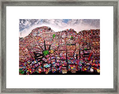 Rio Favelas Framed Print