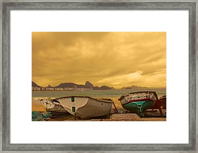 Framed Print featuring the photograph Rio Fishing Boats by Kim Wilson