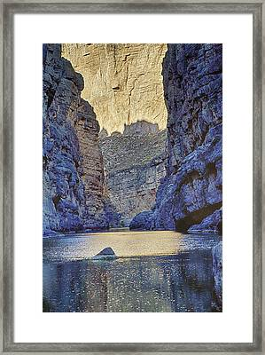 Rio Grand, Santa Elena Canyon Texas 2 Framed Print by Kathy Adams Clark