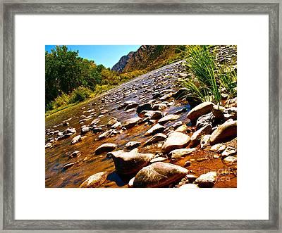 Rio Grande Above Santa Fe Framed Print by Chuck Taylor