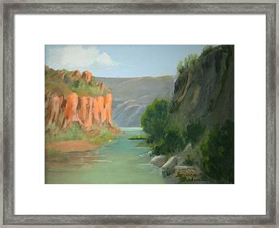 Rio Grande Canyon Framed Print by Roxanne Rodwell