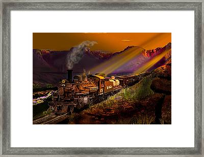 Rio Grande Early Morning Gold Framed Print by J Griff Griffin