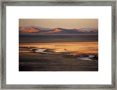 Rio Grande Evening Framed Print by Lynard Stroud