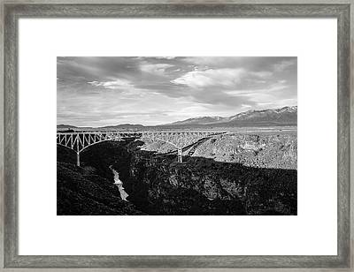 Framed Print featuring the photograph Rio Grande Gorge Birdge by Marilyn Hunt