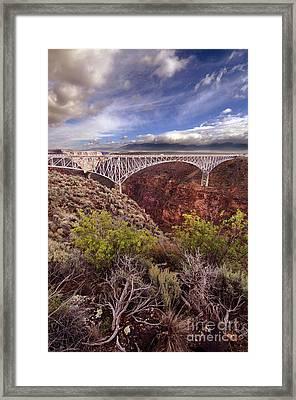 Rio Grande Gorge Bridge Framed Print by Jill Battaglia