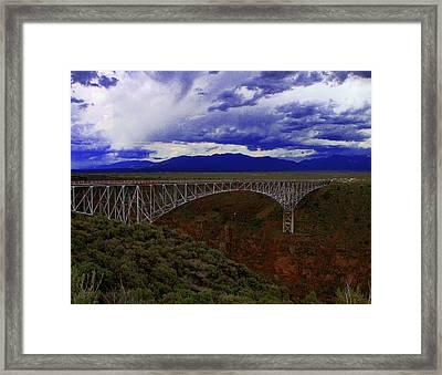 Rio Grande Gorge Bridge Framed Print by Neil McCarver