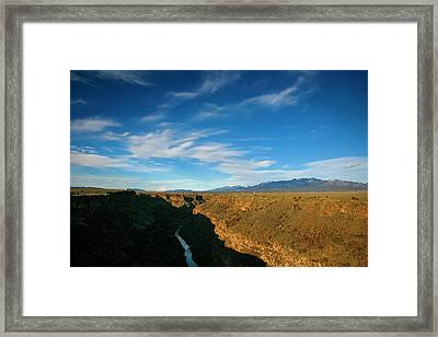 Framed Print featuring the photograph Rio Grande Gorge Nm by Marilyn Hunt